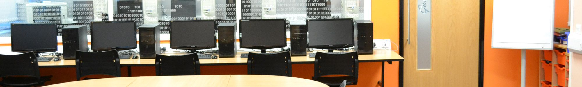 School computer classroom in Manchester