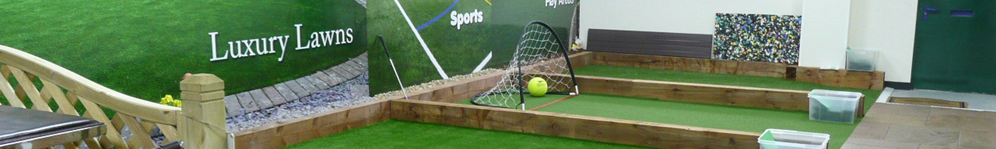 Artificial grass display in Liverpool